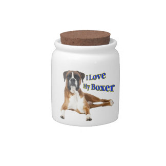 I Love my Boxer Candy Jars