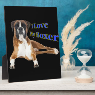 I Love my Boxer Display Plaques
