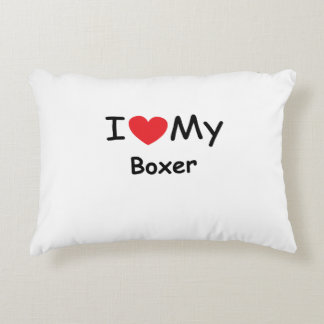 I love my Boxer dog Accent Pillow