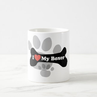 I Love My Boxer - Dog Bone Classic White Coffee Mug