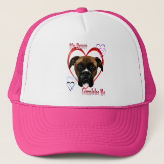 I Love My Boxer Dog Hats