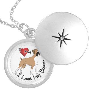 I Love My Boxer Dog Locket Necklace