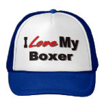 I Love My Boxer Dog Lover Merchandise Hat