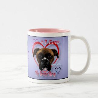 I Love My Boxer Dog Mugs
