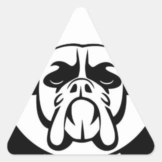 I LOVE MY BOXER dog pet breed Triangle Sticker