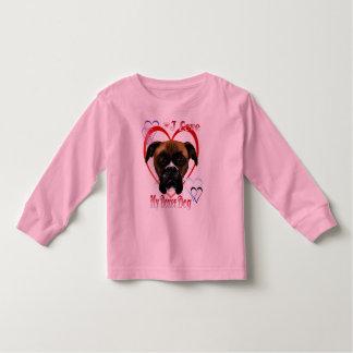 I Love My Boxer Dog Shirt