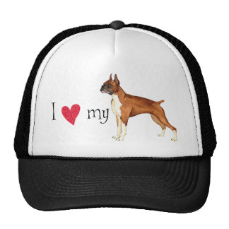 I Love my Boxer Hats