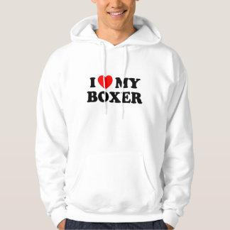 I Love my Boxer Hooded Sweatshirt