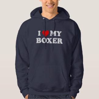 I Love My Boxer Hoody