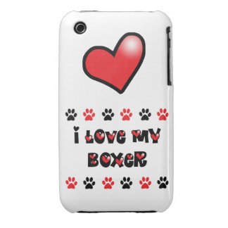 I Love My Boxer iPhone 3 Cases