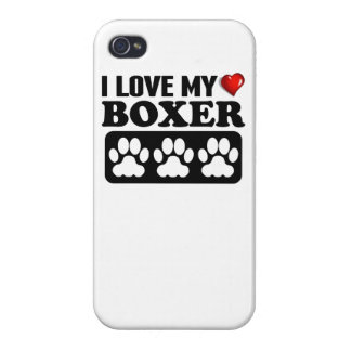 I Love My Boxer iPhone 4 Cover