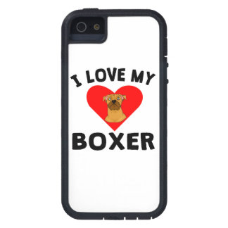 I Love My Boxer iPhone 5 Case