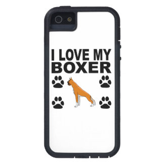 I Love My Boxer iPhone 5 Cases