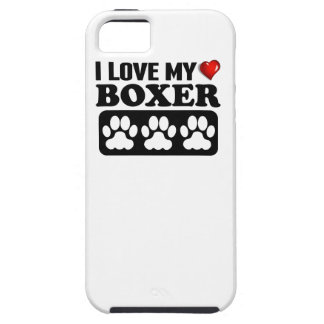 I Love My Boxer iPhone 5 Cover