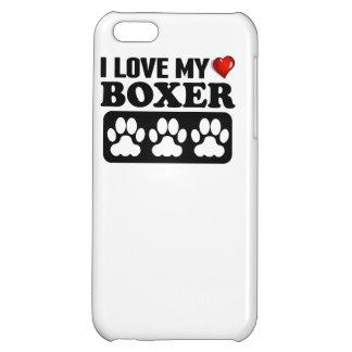 I Love My Boxer iPhone 5C Cases