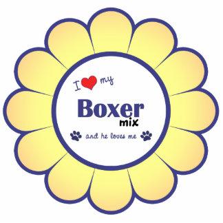I Love My Boxer Mix (Male Dog) Cutout