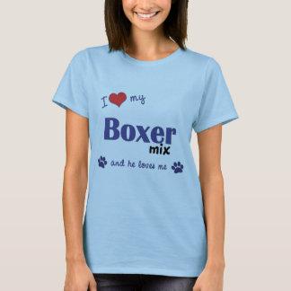 I Love My Boxer Mix (Male Dog) T-Shirt