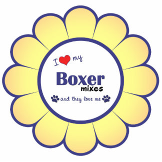 I Love My Boxer Mixes (Multiple Dogs) Cutout