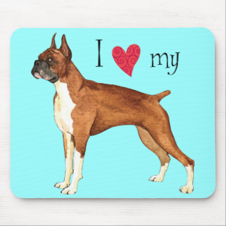 I Love my Boxer Mouse Pad