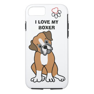 I Love my Boxer Phone Case