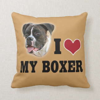 I Love My Boxer Pillow
