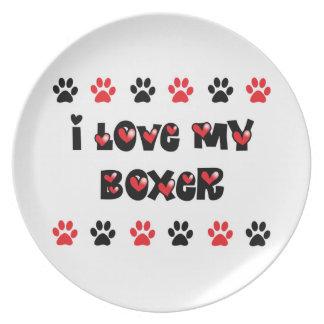 I Love My Boxer Plates