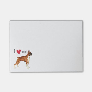 I Love my Boxer Post-it® Notes