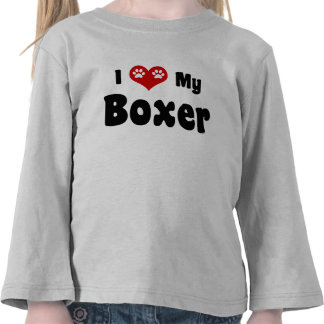 I Love My Boxer Tee Shirt