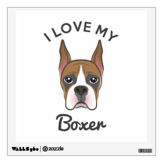"""I Love My Boxer"" Wall Decal"