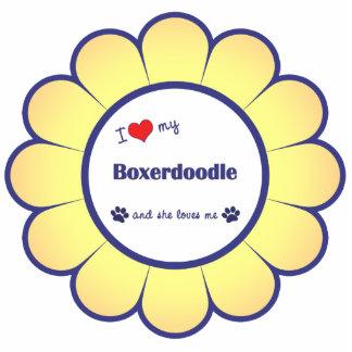 I Love My Boxerdoodle (Female Dog) Statuette