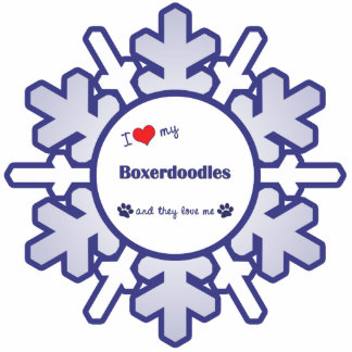 I Love My Boxerdoodles (Multiple Dogs) Cutout