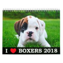 I LOVE MY BOXERS 2018 CALENDAR