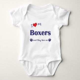 I Love My Boxers (Many Dogs) Tee Shirt