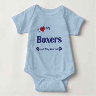 I Love My Boxers (Multiple Dogs) Baby Bodysuit