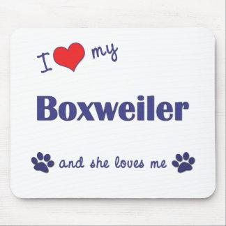I Love My Boxweiler (Female Dog) Mouse Pad
