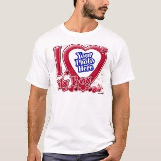 I Love My Boy red heart - photo T-Shirt