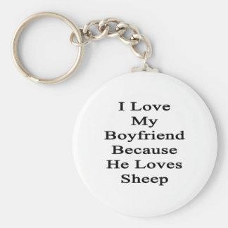 I Love My Boyfriend Because He Loves Sheep Key Chains