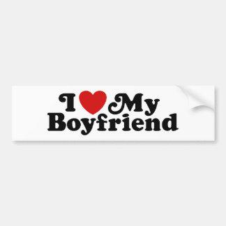 I Love My Boyfriend Bumper Sticker
