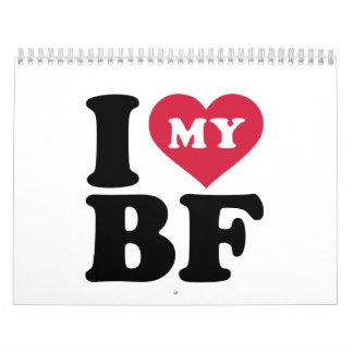 I love my boyfriend calendar
