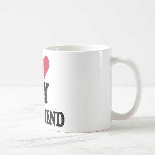 I love my boyfriend classic white coffee mug