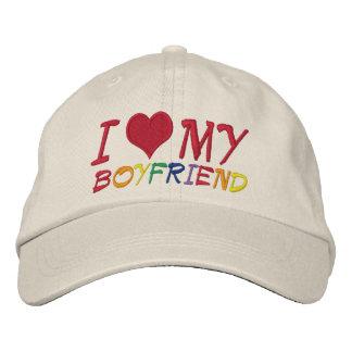 I Love My Boyfriend Embroidered Hat