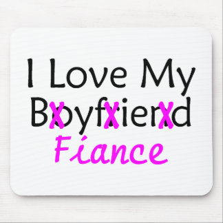I Love My Boyfriend Fiance Pink Mouse Pad