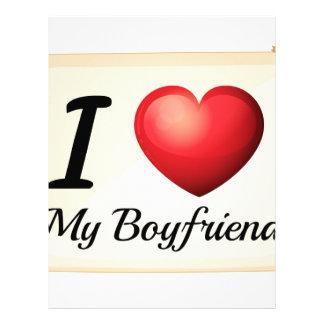 I love my boyfriend letterhead
