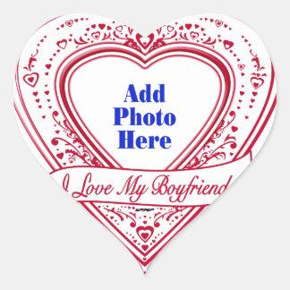 I Love My Boyfriend! Photo Red Hearts Heart Sticker