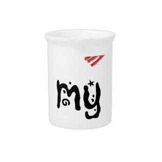 I love my boyfriend beverage pitcher