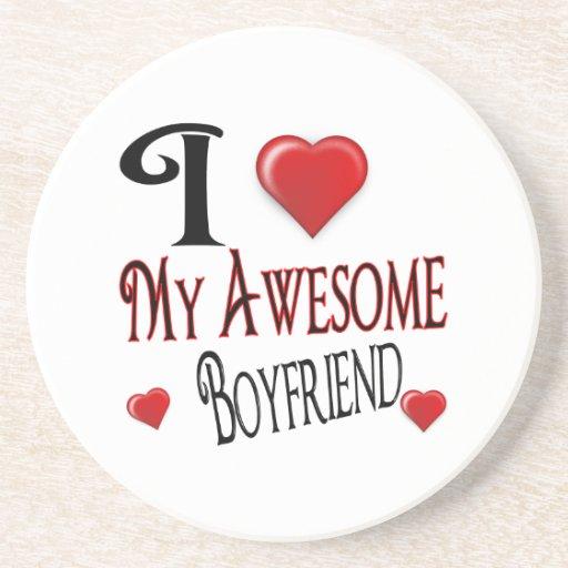 I Love My Boyfriend Popular Holiday Gift Drink Coaster
