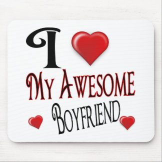 I Love My Boyfriend Popular Holiday Gift Mouse Pad