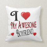 I Love My Boyfriend Popular Holiday Gift Pillow