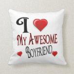 I Love My Boyfriend Popular Holiday Gift Pillows