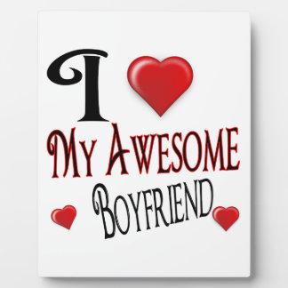 I Love My Boyfriend Popular Holiday Gift Plaque